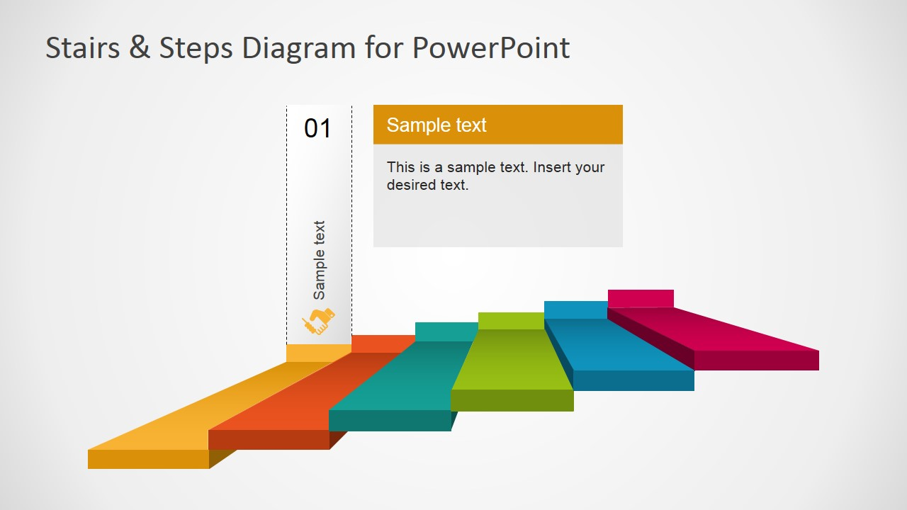 hight resolution of powerpoint 6 steps stairs diagram powerpoint diagram stairs first step highlight