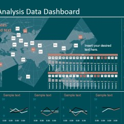 Statistical Analysis Graphs And Diagrams Server Room Layout Diagram Economic Data Dashboard For Powerpoint - Slidemodel