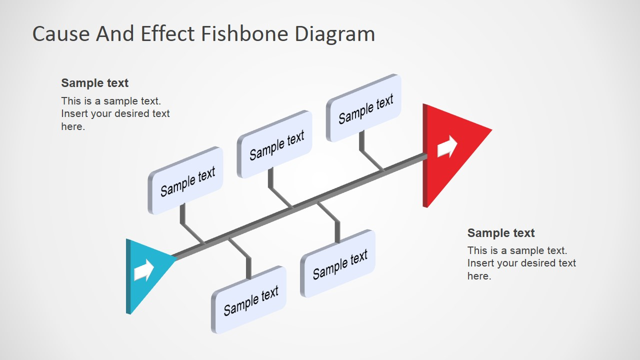 hight resolution of fishbone diagram template 3d perspective