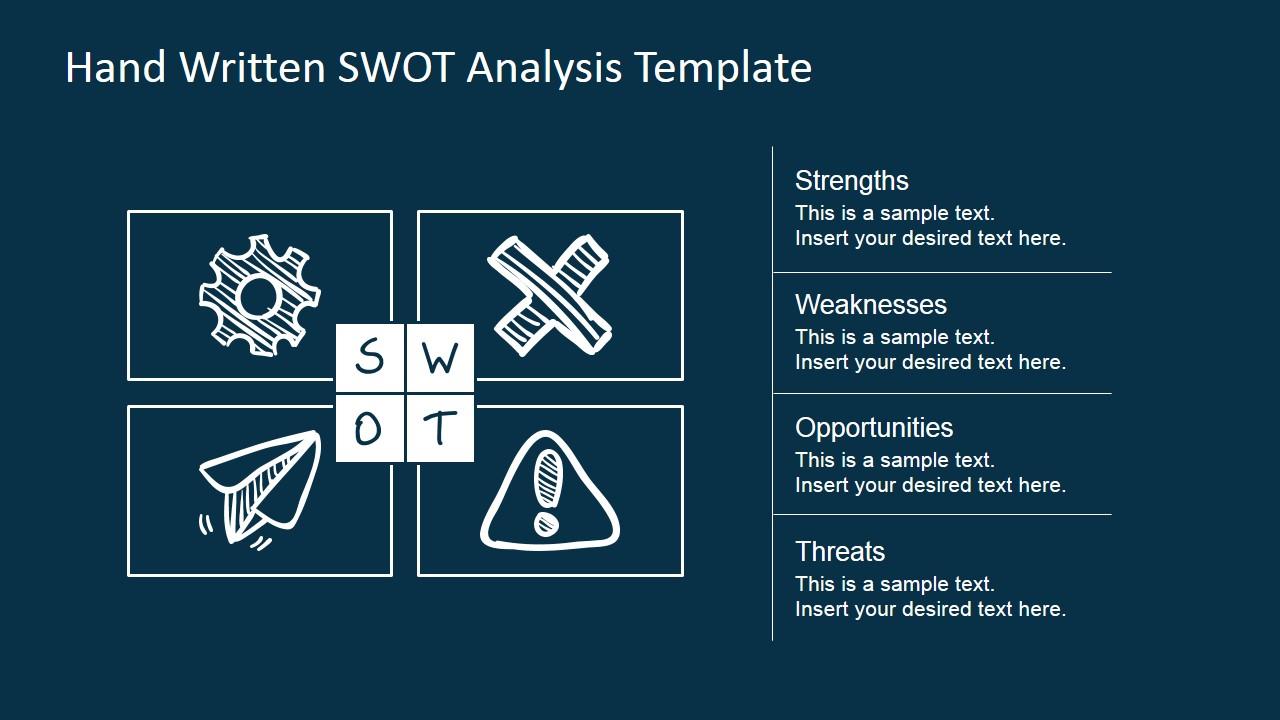 SWOT Design Matrix Sketched for PowerPoint  SlideModel