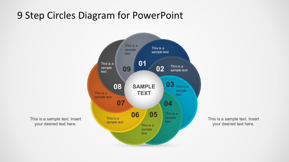 medium resolution of 9 steps circles diagram powerpoint template
