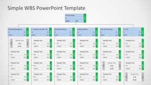 Work Breakdown Structure (WBS) PowerPoint Diagram