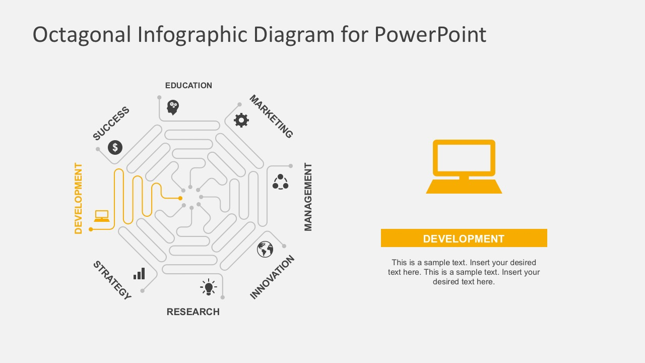 hight resolution of  flat design process flow diagrams business powerpoint octagon infographic diagrams with powerpoint icons