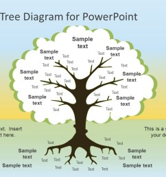 flat design tree diagram powerpoint template [ 1280 x 720 Pixel ]
