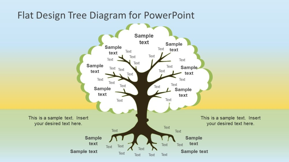 medium resolution of flat design tree diagram powerpoint template