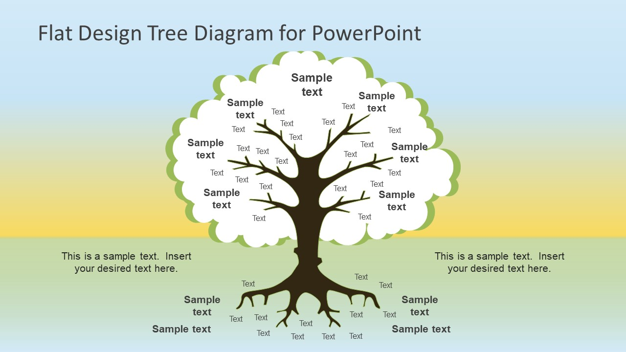 hight resolution of flat design tree diagram powerpoint template