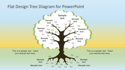 small resolution of flat design tree diagram powerpoint template
