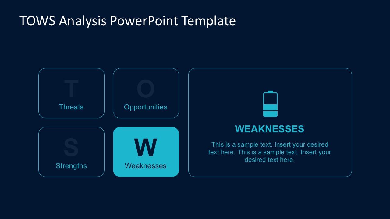 TOWS Analysis PowerPoint Template  SlideModel