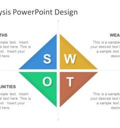 diamond swot powerpoint template [ 1280 x 720 Pixel ]
