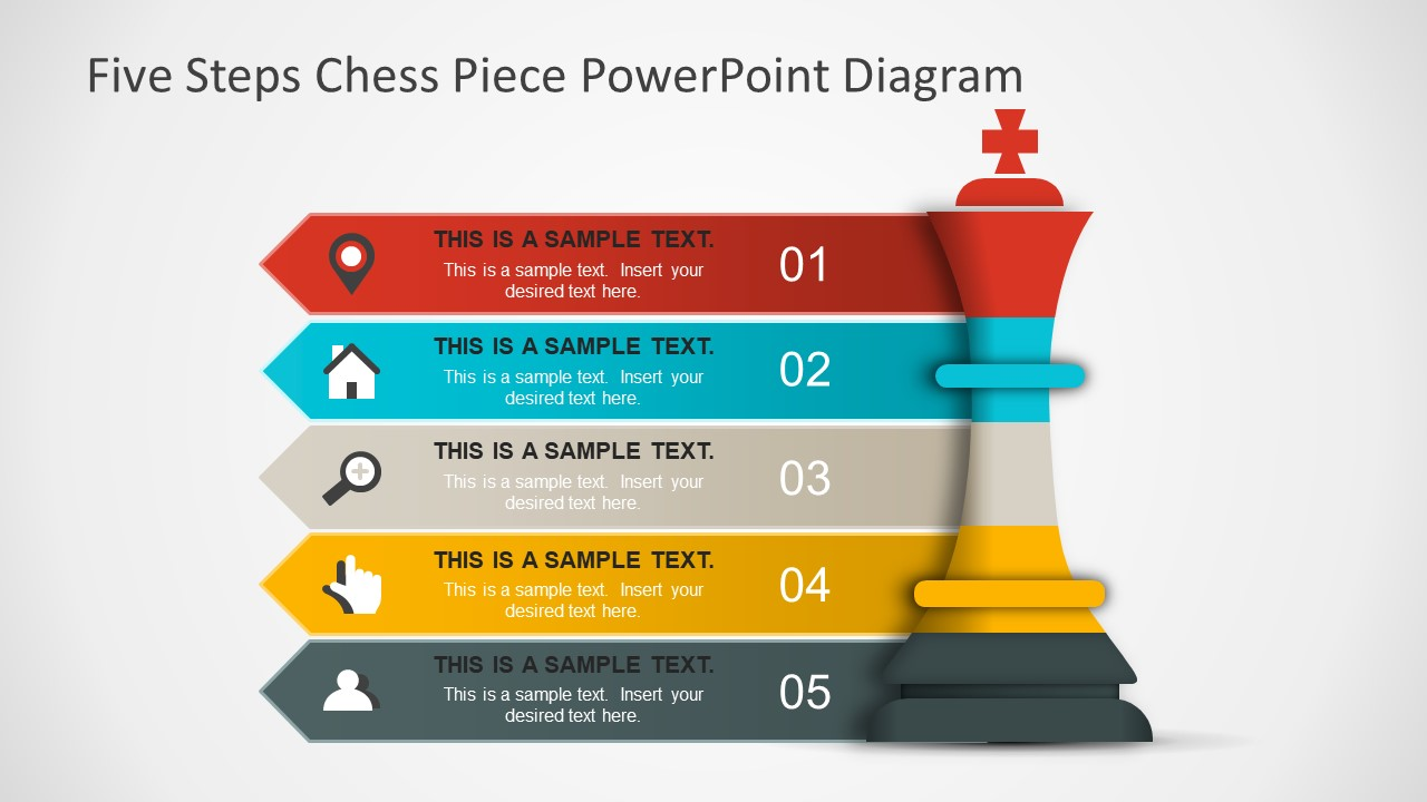 hight resolution of 3d bar staged process diagram for powerpoint king chess piece symbol powerpoint