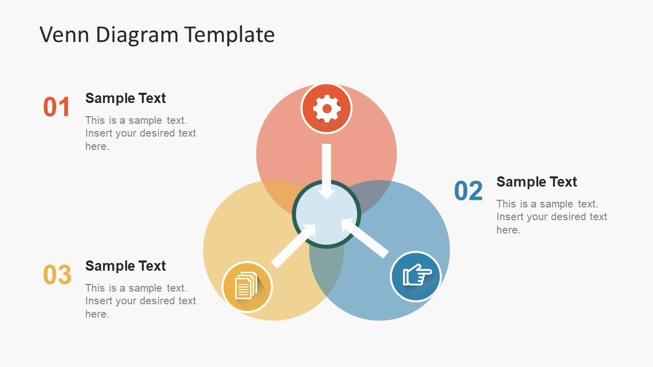 hight resolution of simple flat venn diagram powerpoint template