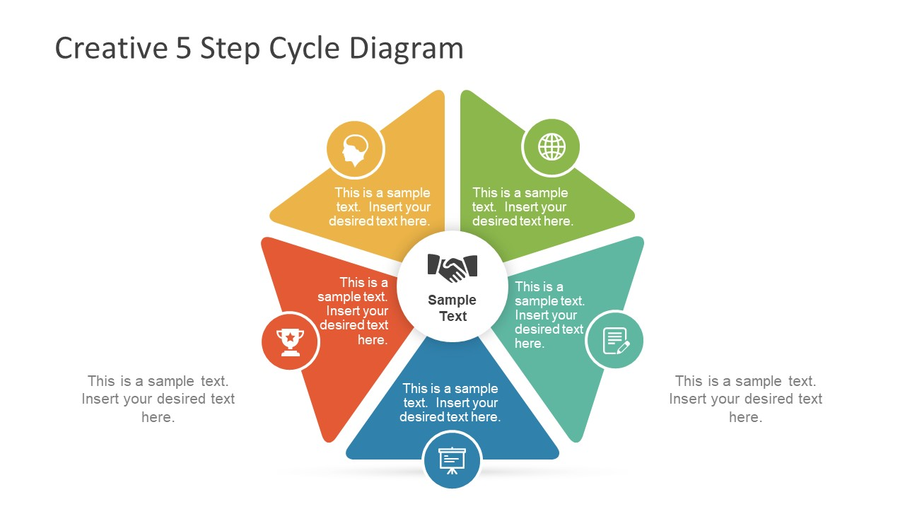 hight resolution of creative 5 step cycle diagram for powerpoint