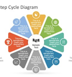 creative 8 step cycle diagram for powerpoint [ 1280 x 720 Pixel ]