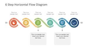 6 Step Horizontal Flow Diagram for PowerPoint  SlideModel