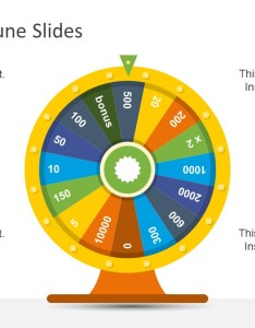Colorful wheel illustration segments rotatable template of shape pic chart style powerpoint also fortune slidemodel rh