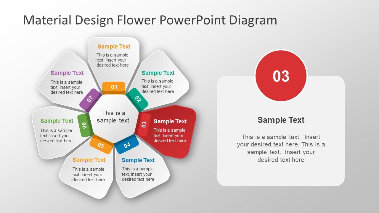 hight resolution of  presentation of flower circular diagram