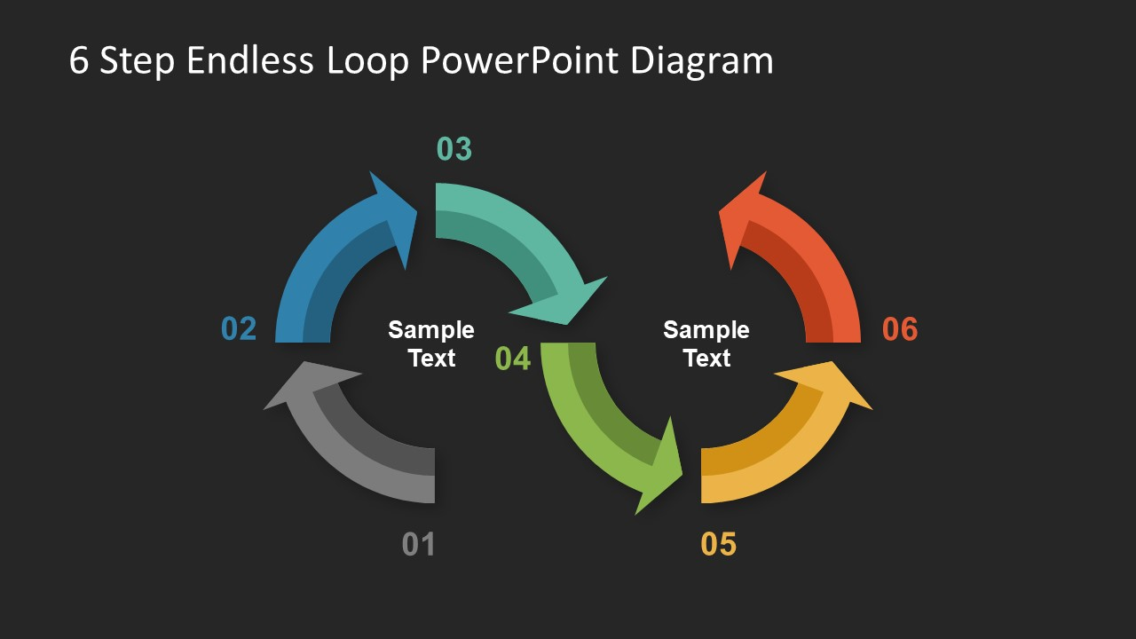 hight resolution of  ppt side for business process flow diagram endless loop