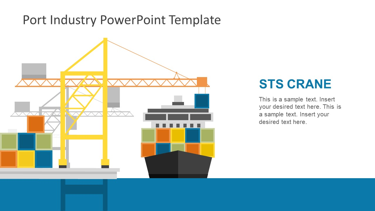 hight resolution of sts crane and container ship illustration