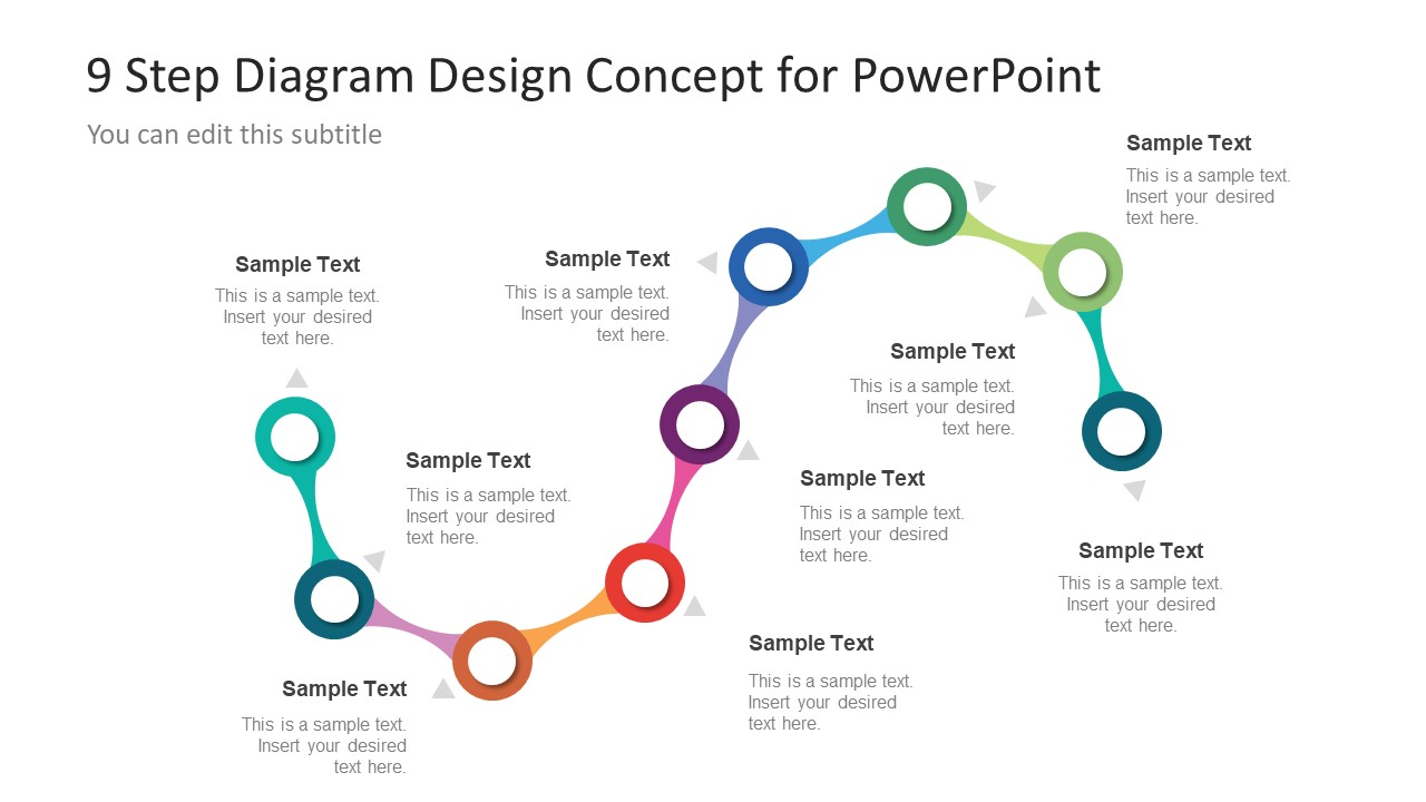 circular diagram flow chart template singer sewing machine threading 9 step powerpoint of process - slidemodel