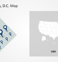 washington dc clipart template of location markers map  [ 1280 x 720 Pixel ]