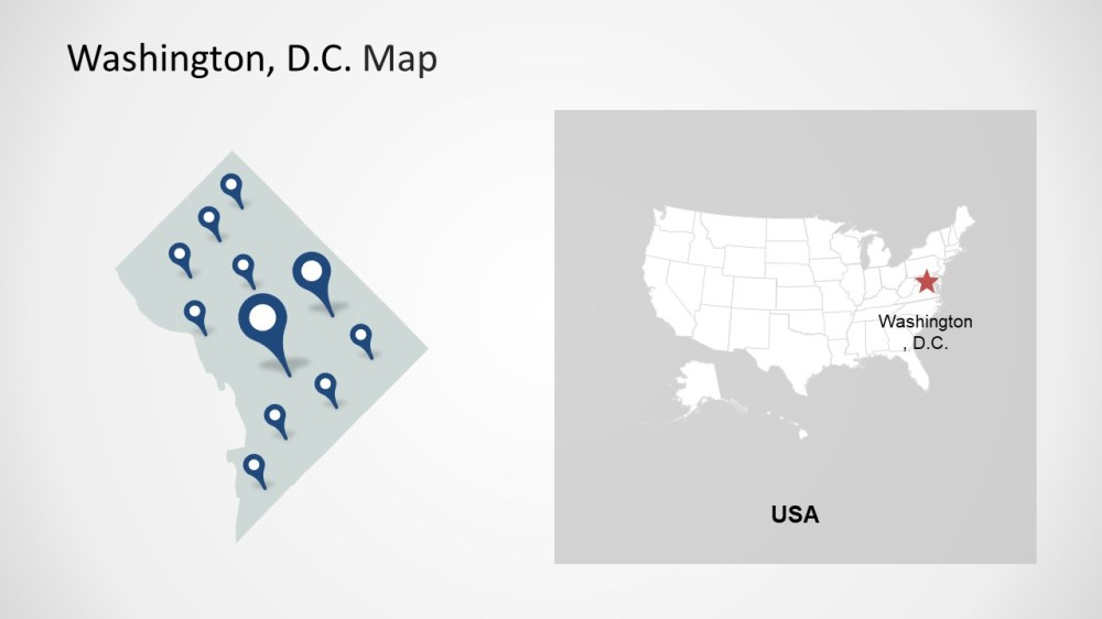 medium resolution of  washington dc clipart template of location markers map