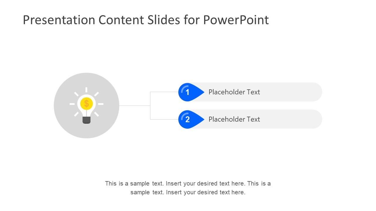 Presentation Content Slides For Powerpoint Slidemodel