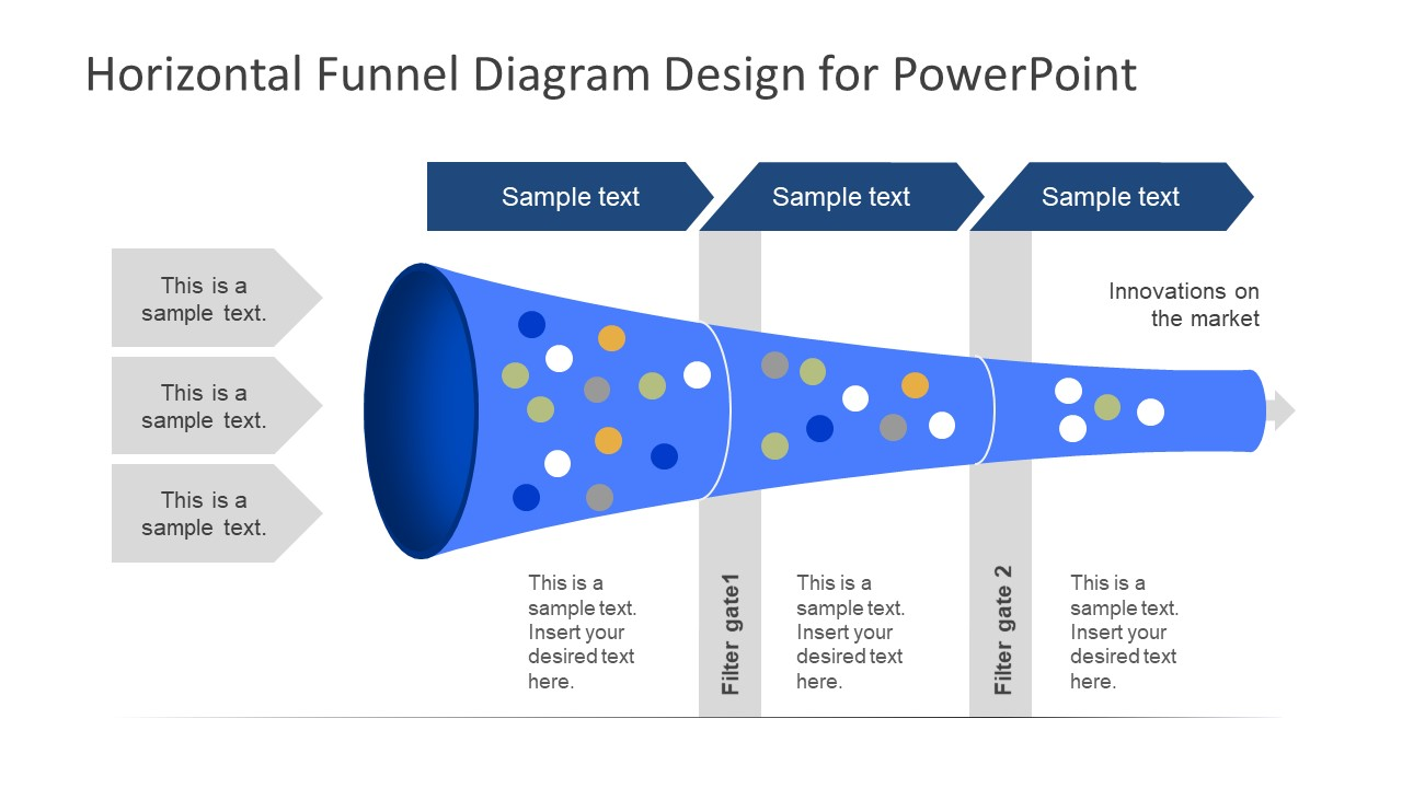 hight resolution of horizontal 3 stages powerpoint templates funnel diagram slidemodel