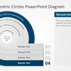 Process Flow Diagram Shapes Symbols Chart Four Concentric Circles Powerpoint - Slidemodel