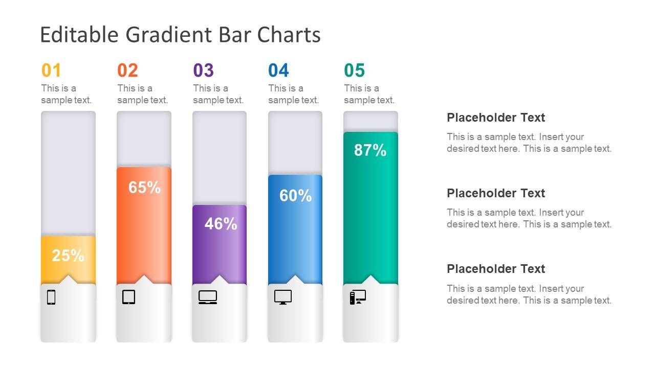 hight resolution of diagram of bar chart gradient blocks