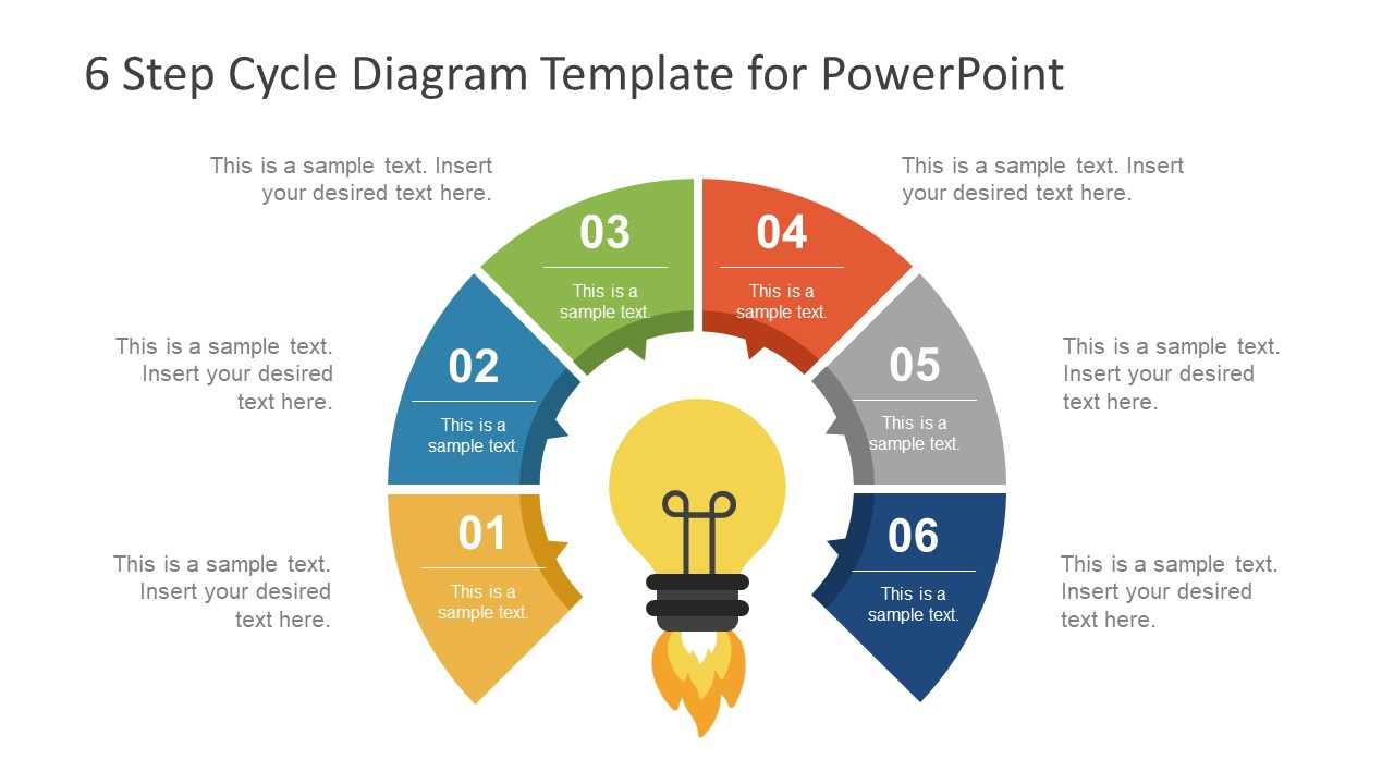 hight resolution of 6 step cycle diagram powerpoint template