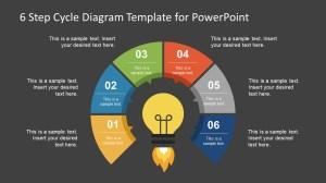 6 Step Cycle Diagram PowerPoint Template  SlideModel