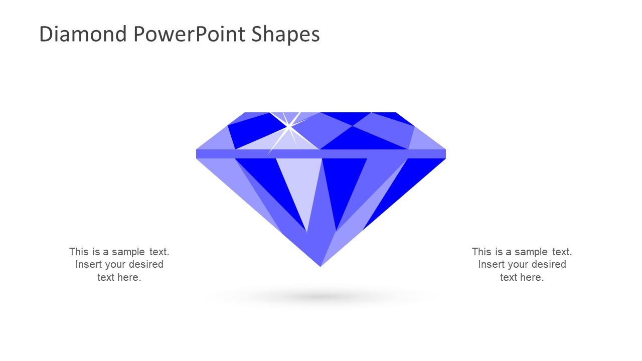 hight resolution of  diamond diagram design flat vector