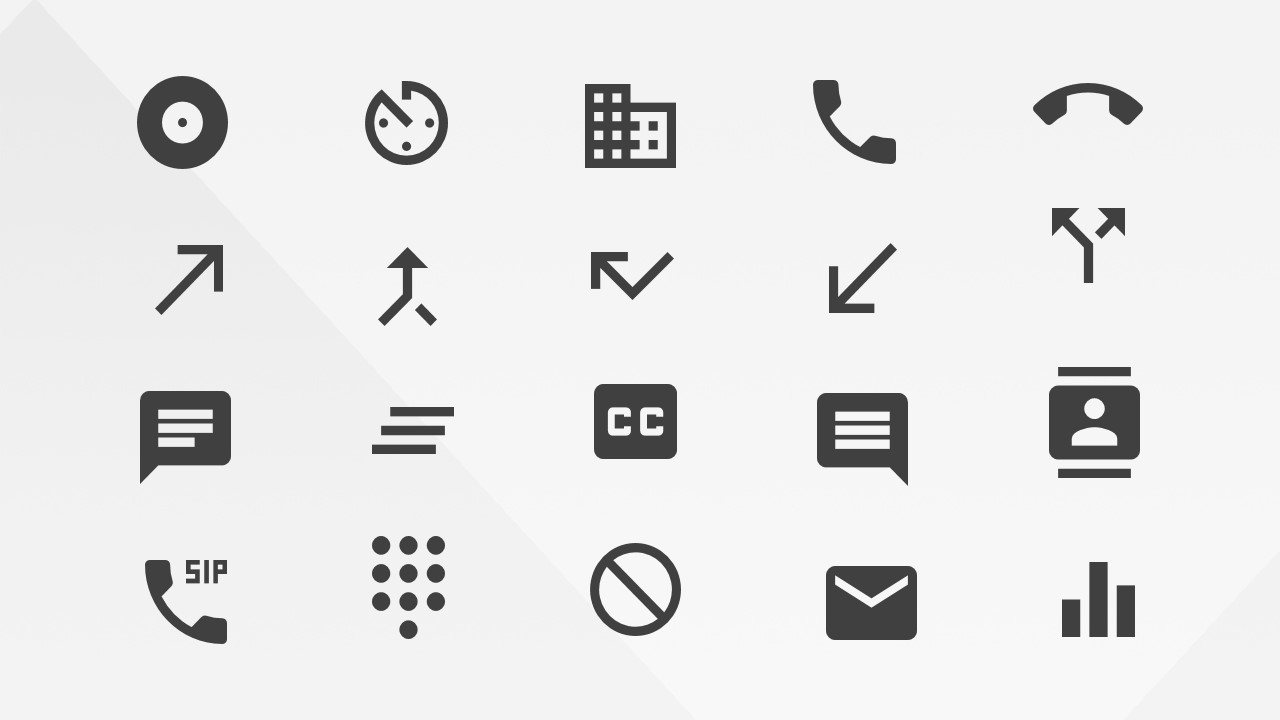 Google Materials Alerts Communications and AV Icons for