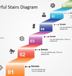 6 step colorful stairs diagram for powerpoint slidemodel diagram of steps 3d modern stair with powerpoint [ 1280 x 720 Pixel ]