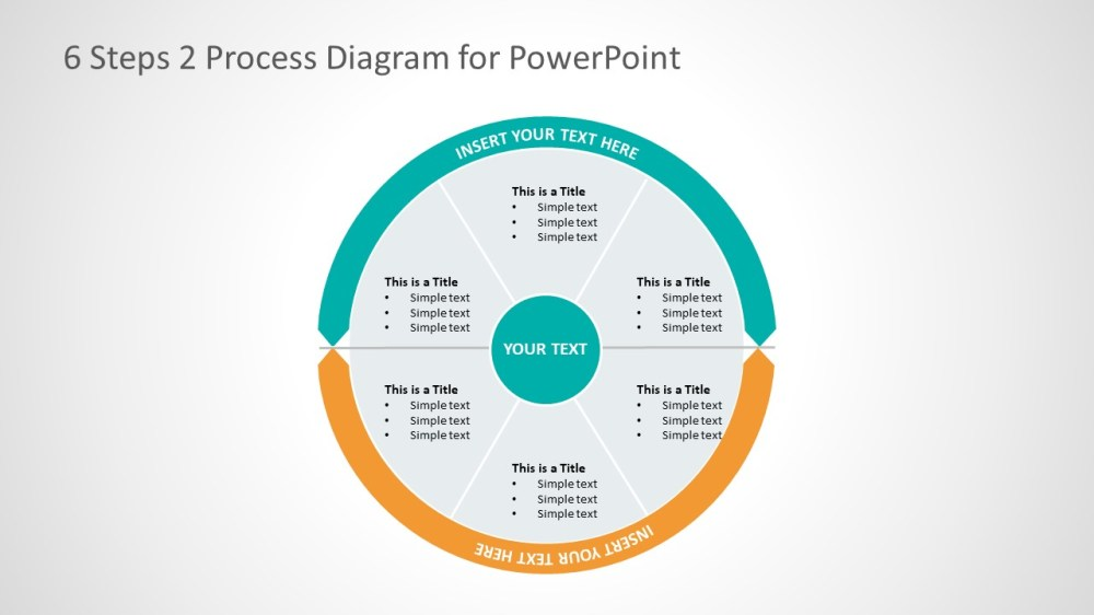 medium resolution of 2 process business presentation layout cycle process flow diagram template