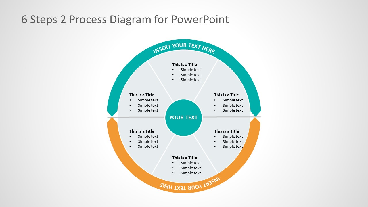 hight resolution of 2 process business presentation layout cycle process flow diagram template