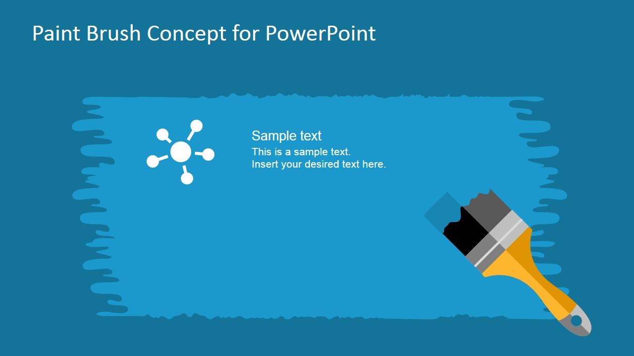 Free Paint Brush Concept PowerPoint Template SlideModel