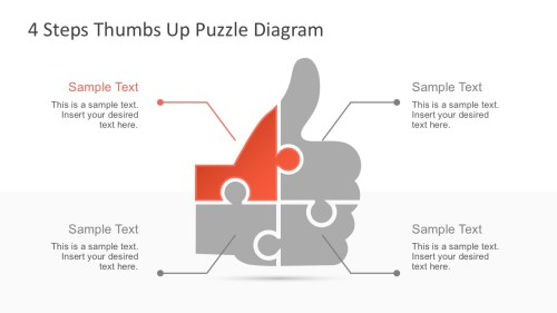 small resolution of download free thumbs up puzzle powerpoint diagram
