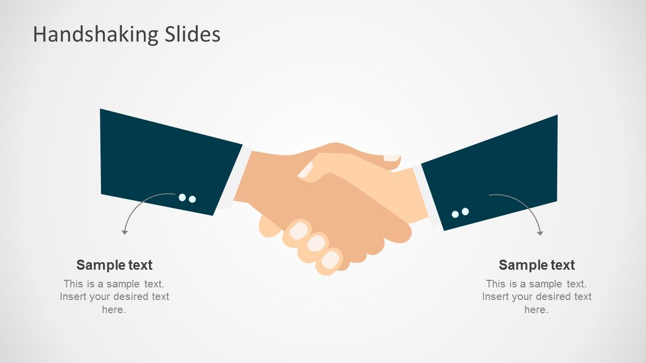 Free Handshaking Shapes For Powerpoint Slidemodel
