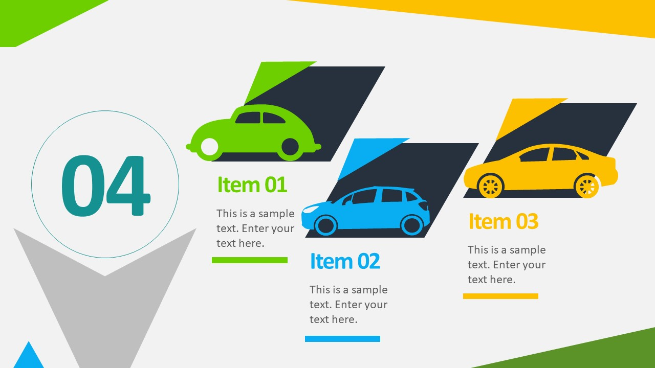 Animated Business Infographic Template; Editable Car Clipart Color  Background; Editable Photography Icons In Powerpoint