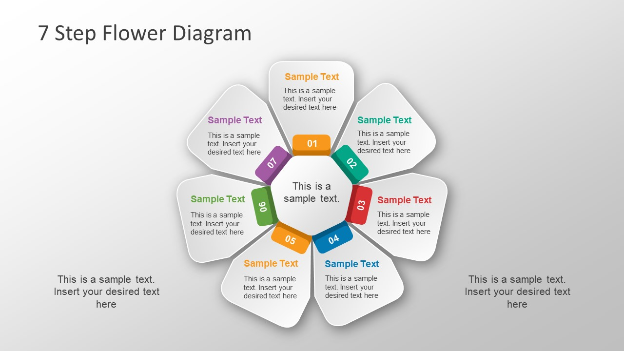 hight resolution of core flower powerpoint diagram