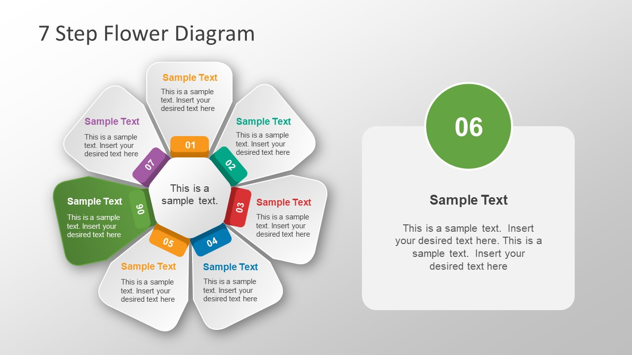 free circular arrow diagram template uml tool open source 7 step flower powerpoint - slidemodel