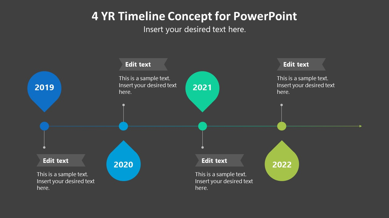 Free 4 Years Timeline Template Concept For PowerPoint SlideModel