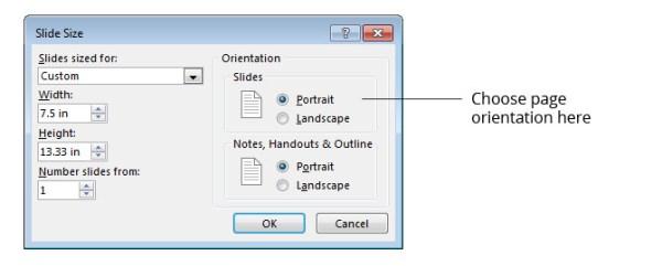 change page orientation