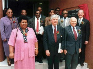 Botswana Harvard Partnership headquarters opening with dignitaries