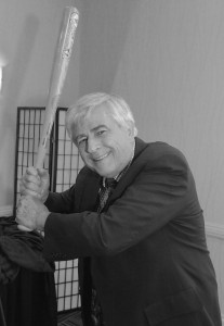 Max Essex with 2004 Red Sox bat