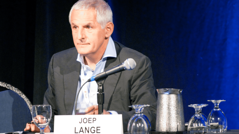 Dr. Joep Lange at the International HIV Treatment as Prevention Workshop held in Vancouver, April 2014