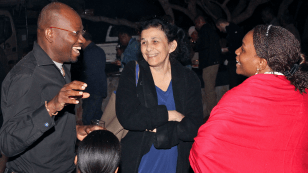Collins Iwuji, Wafaa El-Sadr and Velephi Okello