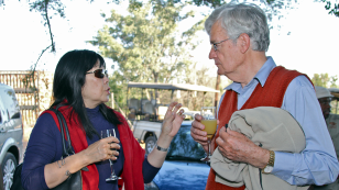 Phyllis Kanki and Howard Moffat