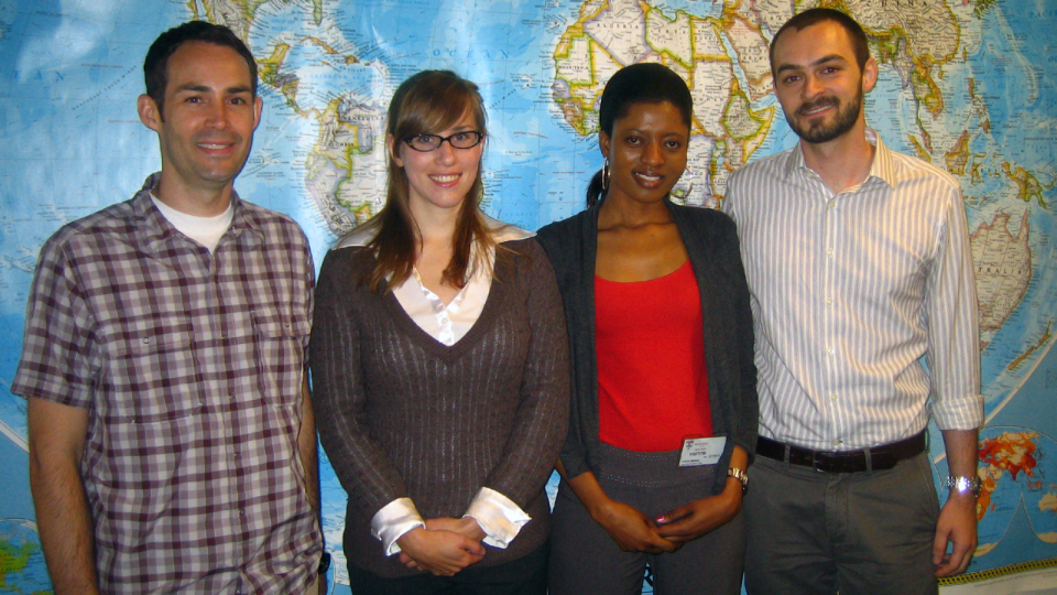 Ryan Davis, far right, with other Fulbright-Fogarty Fellows